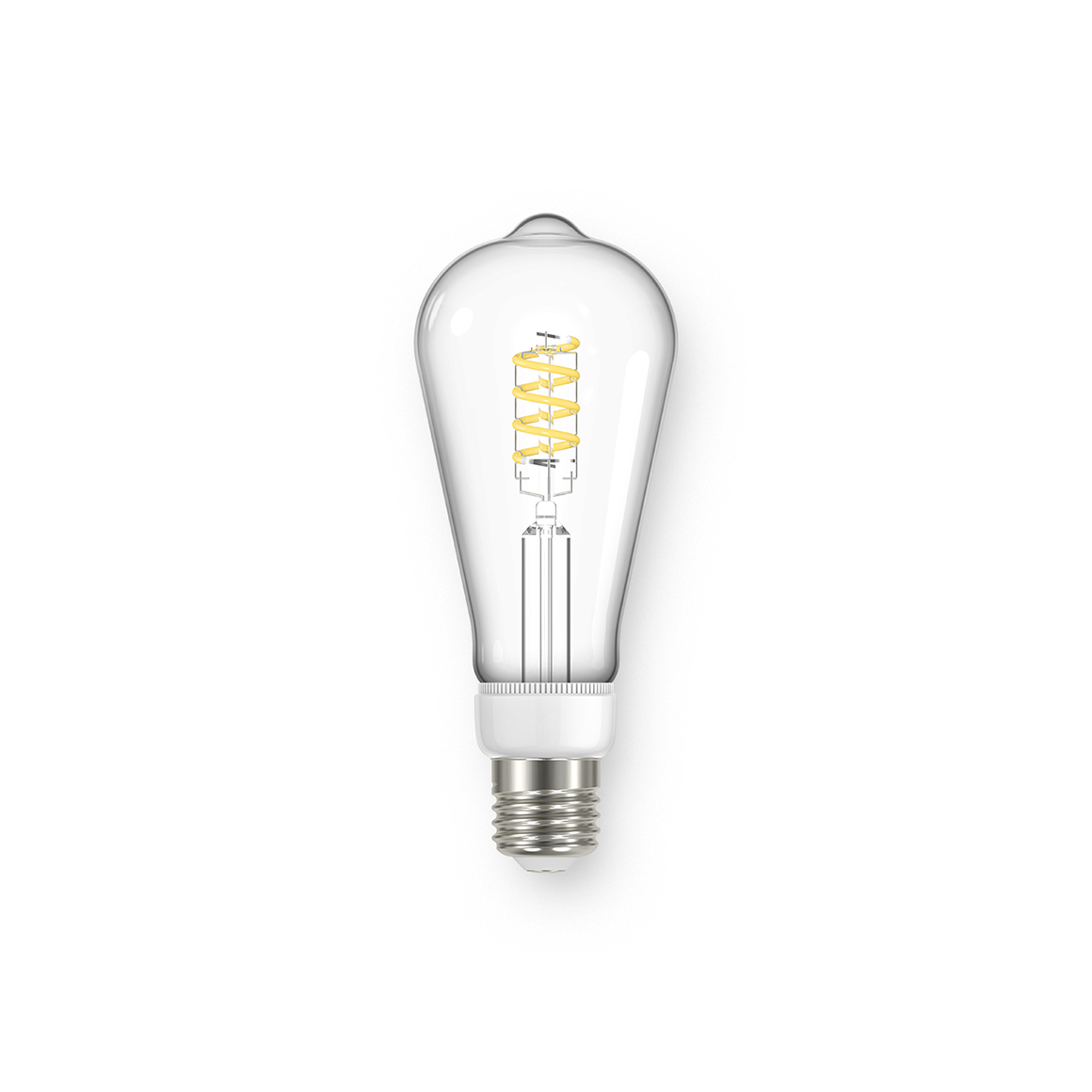 Filament ST64 Spiral Clear 470lm Dimmable E27