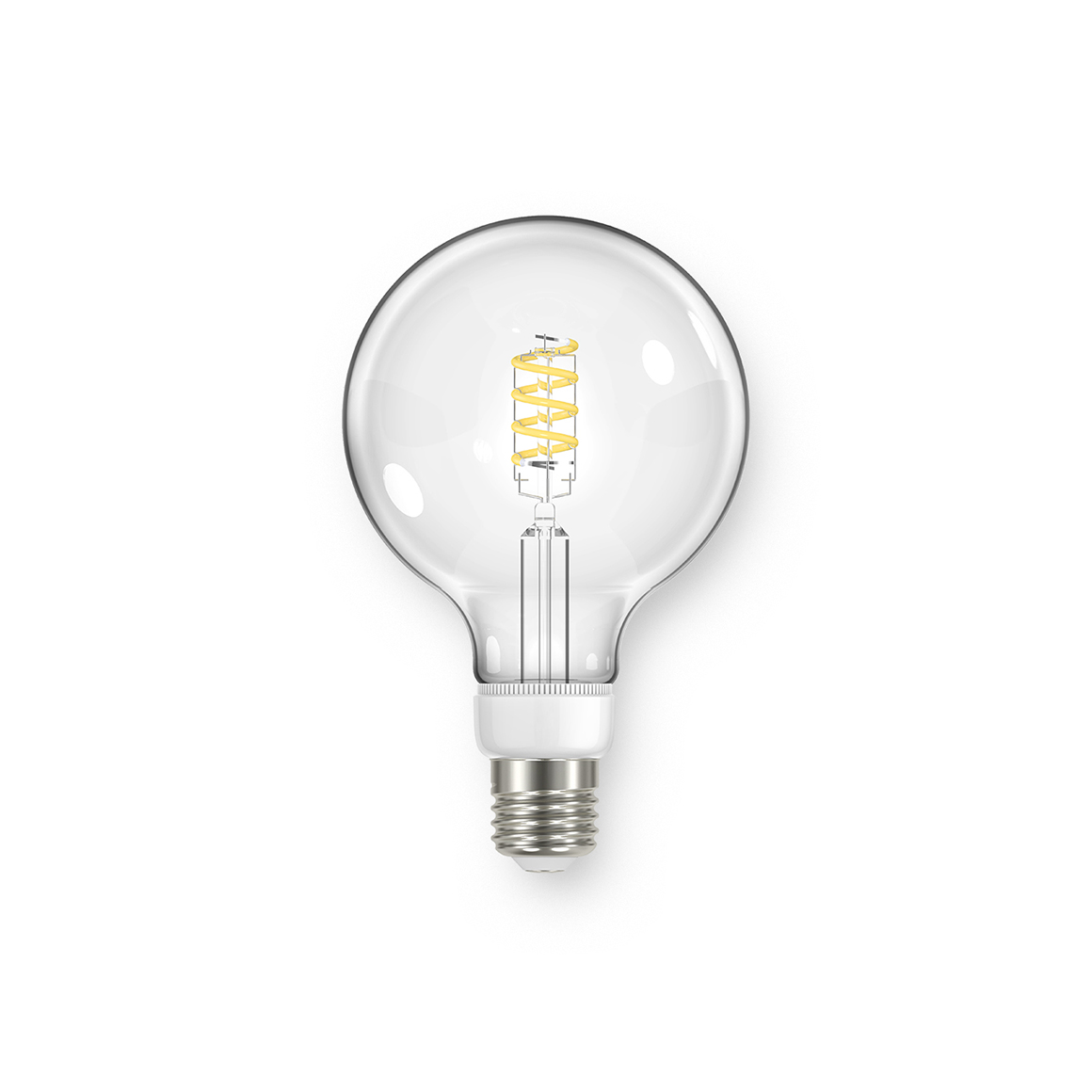 Global G95 Spiral Clear 470lm Dimmable E27