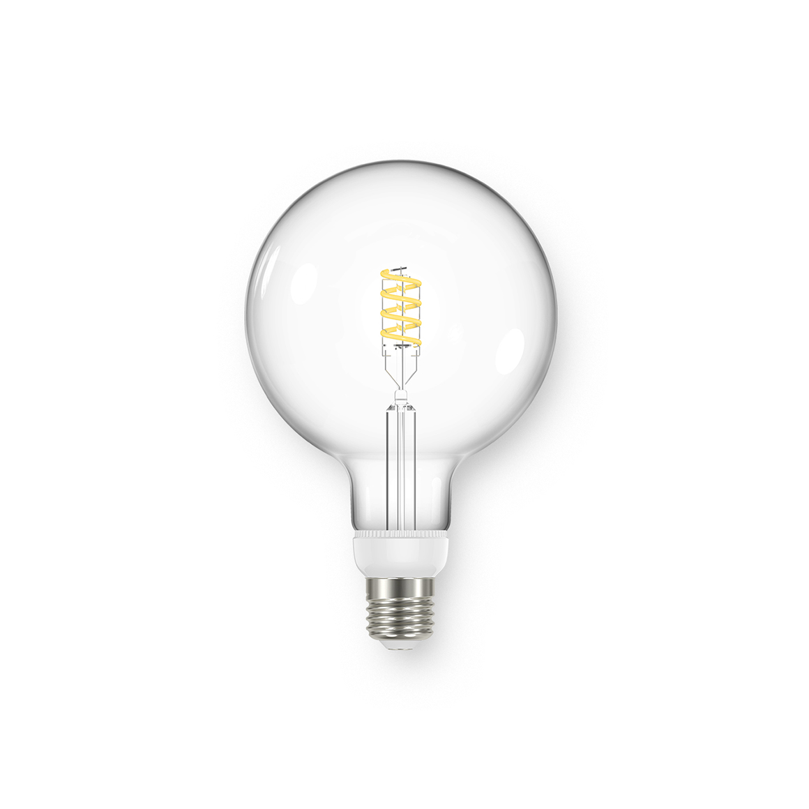 Global G125 Spiral Clear 470lm Dimmable E27