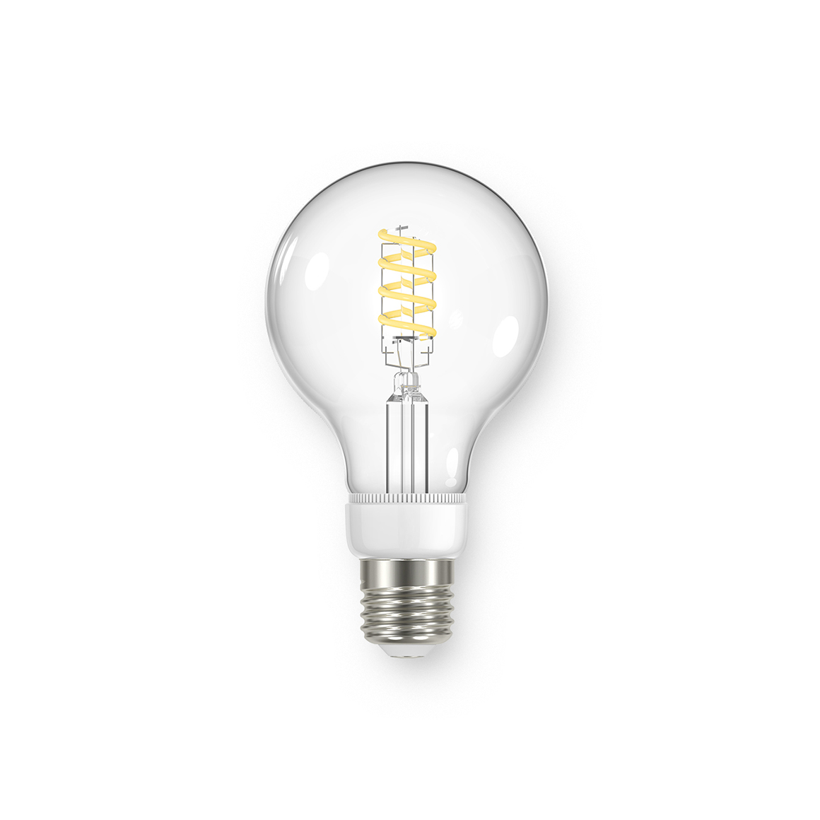 Global G25 Spiral Clear 450lm Dimmable E26